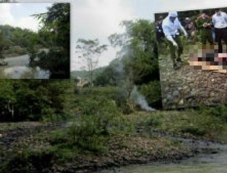 Đoạn suối phát hiện xác nạn nhân